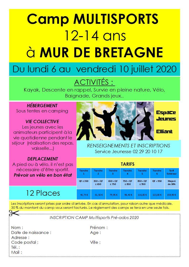 Les camps de l'Espace Jeunes en juillet et août