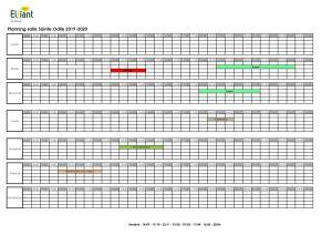 Planning salle Ste Odile 2019-2020