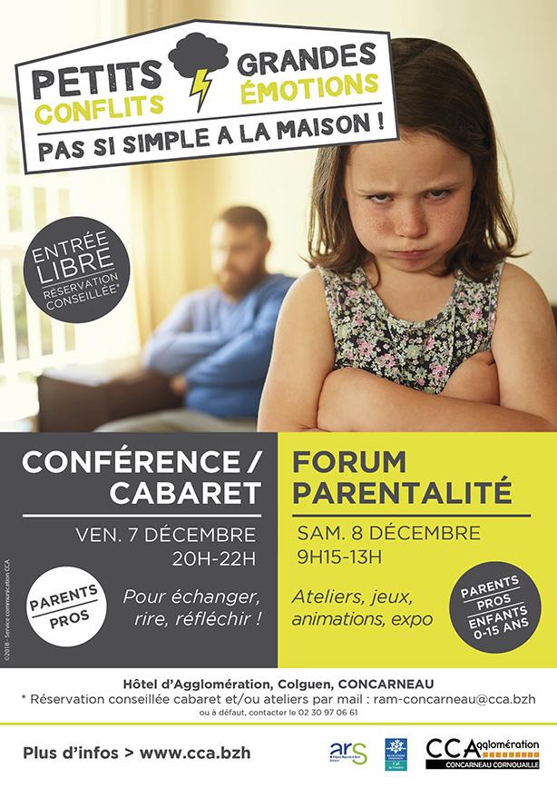 7 et 8 décembre Conférence/cabaret et Forum parentalité