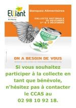 30 novembre et 1er décembre Collecte de la banque alimentaire