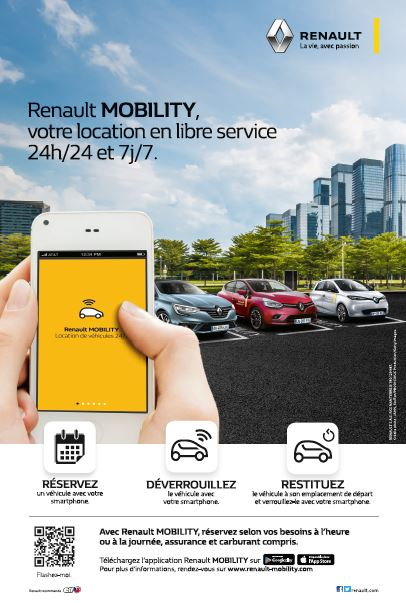 Renault mobility : location de voiture en libre-service 24h/24 à Elliant