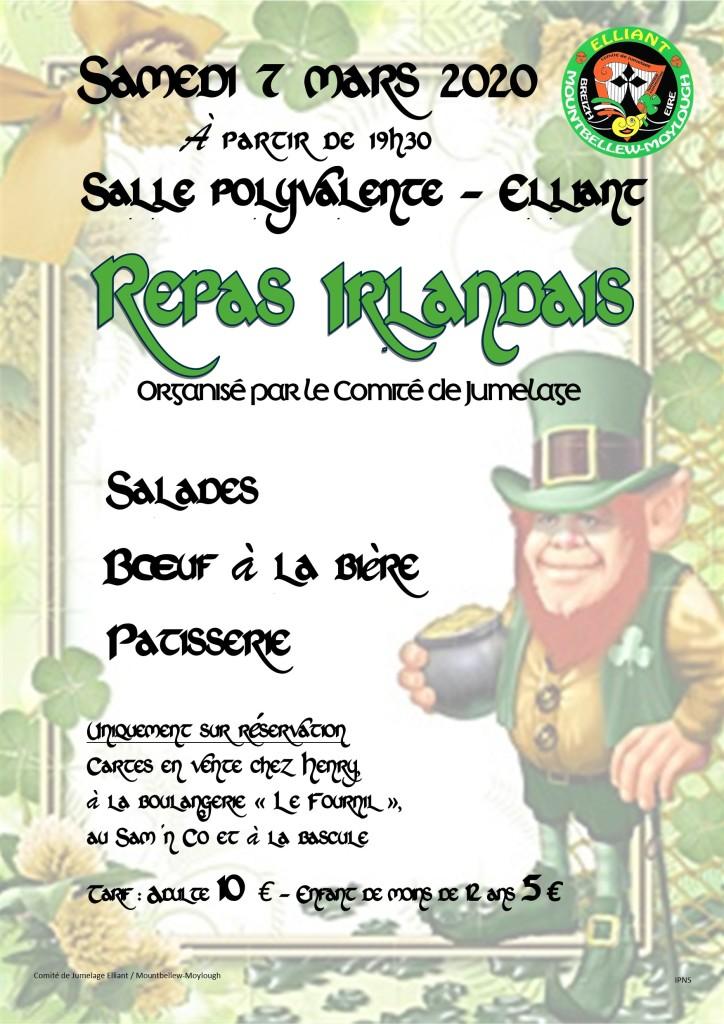 Affiche Repas St Patrick 2020