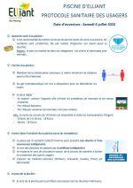 Piscine – protocole sanitaire et horaires