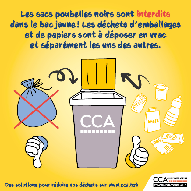 Visuel gestion déchets Concarneau Cornouaille