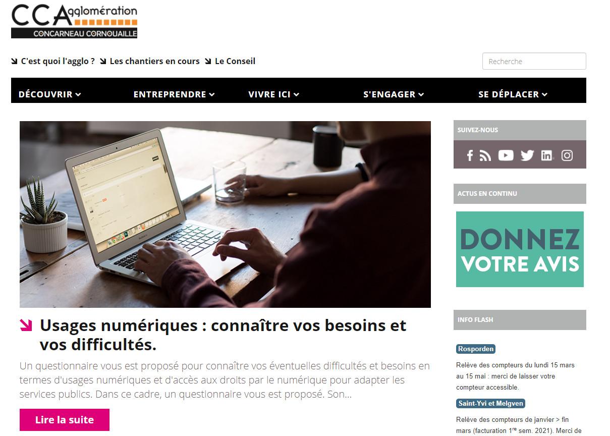 Accueil site Concarneau Cornouaille
